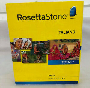 ROSETTA STONE Italian Version 4, Level 1, 2, 3, 4, 5 (1-5) Italiano
