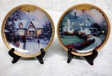 Set of Six (6) Thomas Kinkade Celebrations Collection Plates
