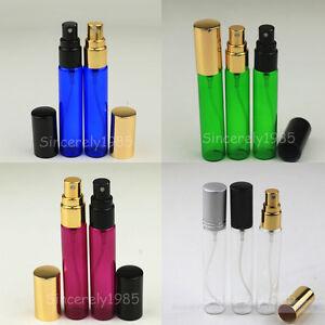 3~100 MIX Glass Spray Bottle Alloy Sprayer Sample Portable Vial Perfume 5ml 10ml