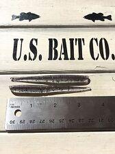 "Slug-go 3.25"" Finesse Bait Color Smoke Purple Shad Lot Of 50 Bass Fishing"