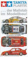 Tamiya Plastik Prospekt 8/96 Modellautos brochure model cars Broschüre 1996