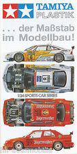 Prospekt Tamiya Plastik 8/96 Modellautos brochure model cars Broschüre 1996