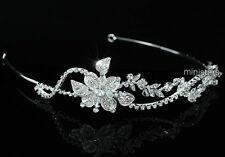 Hochzeit Funkelnden Kristall Handgefertigt Blume Diadem T1465