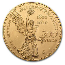 2010 Mexico 200 Pesos Bicentenary Commemorative Gold Coin - SKU #64260