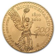 2010 Mexico 200 Pesos Bicentenary Commemorative Gold Coin - SKU #64260