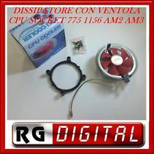DISSIPATORE + VENTOLA CPU SOCKET 775 1156 am2 AM2+ am3 LINQ V246