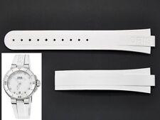 REAL ORIS 733 7652 Aquis Date Ladies White RUBBER band strap bracelet 07 4 18 31
