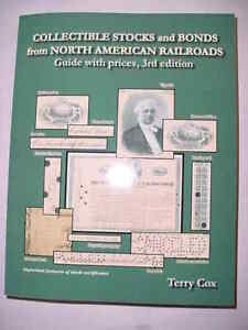 North American Railroads Stock & Bonds Illustrated Book FREE Shipping NEW 2018