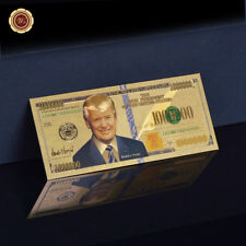 WR Donald Trump Gold Banknote Million Dollar US-Präsident Souvenir Sammlerstück
