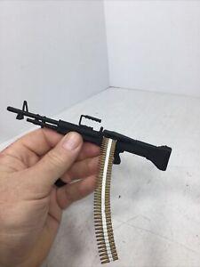 1/6 US M-60 MACHINE GUN + AMMO LINK BELT DRAGON BBI DID 21ST CENT VIETNAM