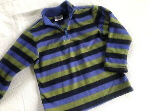 HANNA ANDERSSON boys 110 (5-6) fleece pullover Jacket stripes