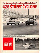 1968 MERCURY CYCLONE 428/335 HP ~ ORIGINAL 5-PAGE ROAD TEST / ARTICLE / AD