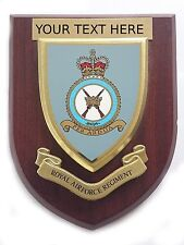 RAF Regiment Personalised Royal Air Force Wall Plaque UK Made for Mod