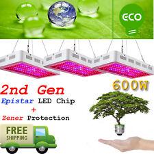 3PCS 2nd GEN Monster 600W Led Grow Lights Full Spectrum Lamp Panel Plant Light