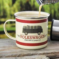 Official Volkswagen 1963 T1 Campervan Enamel Mug - VW Campervan Tin Camping Cup