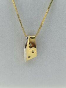 18ct Yellow Gold Diamond Pendant 176005