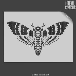 Death Head Hawk Moth Stencil Reusable Home Wall Decor Craft Paint any surface