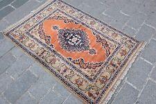 Orange carpet,home carpet,sik rug, carpet.Rugs,village carpet,vintage carpet,rug