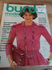 RARE MAGAZINE BURDA MODEN VINTAGE NOUVELLE MODE D'AUTOMNE  AOUT 1975