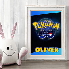 POKEMON GO Personalised Poster A5 Print Wall Art Custom Name ✔ Fast Delivery ✔