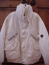 POSTCARD White Itineraries Insulated Winter Coat Jacket Men's 52 - Made in Italy
