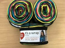 Red Heart It's a Wrap Hues - Black, Red, Yellow Multi Stranded Yarn Cakes - 450g