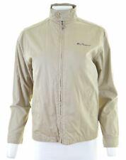 BEN SHERMAN Mens Bomber Jacket Size 38 Medium Khaki Cotton  GZ16