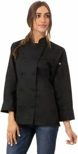 Chef Works Women's Sofia Coat  X-Large, Black