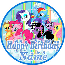 MY LITTLE PONY: ROUND Personalized edible cake toppers FREE SHIPPING in Canada