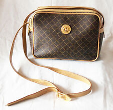 LA TOUR EIFFEL Women Bag Purse Shoulder Crossbody Genuine Leather Logo PVC Brown