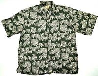 Cooke Street Palm Tiki Honolulu Hawaiian Shirt Short Sleeve Size XL 100% Cotton