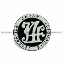 Universal Japan Automobile Federation Badge Sticker Emblem Decal JDM JAF Black