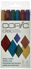 Copic Ciao Markers Jewel Tones 6 Pack, Brand New Copic Markers Jewel Tones