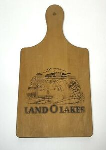 Land O Lakes Wooden Cutting Board with Handle