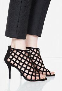 Michael Kors Black Suede Yvonne Bootie Heels Size 6