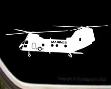 Marines Helicopter Pilot Boeing Vertol CH-46 Sea Knight Decal Sticker SK-R025