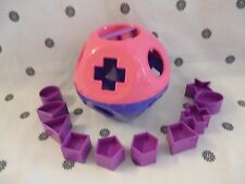 Tupperware Kids Shape O Toy Shape Sorter Pink & Purple New