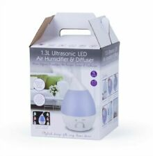 Uniwide 1.3L Ultrasonic LED Air Humidifier and Diffuser