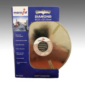 Marcrist MF750 Ø 125mm x 22,23mm Diamant-Trennscheibe Marmor Fiberglas Schiefer