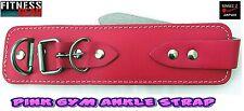 Power Strap Leather PINK Ankle Strap Original(SINGLE) Gym Machine Attachment