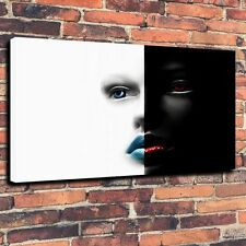 "Decor Art QUALITY CANVAS PRINT Woman In Black and White Home Wall A3892,16""x24"""