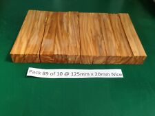 "Pak 89 of 10 Nice Italian Olivewood Pen Blanks 125 x 20,""May 2020 New Stock"""