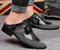 Men's dress formal patent leather lace up shoes sandals slipper loafer Business
