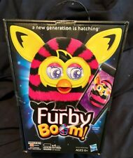 FURBY Boom Interactive New Generation Pink Black Straight Stripes Yellow Hasbro