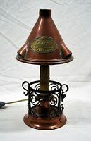 Lámpara Luz de Cobre & Hierro Forjado Inglesa Firmada Swiftsure Finxixe Debxxe