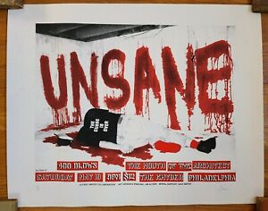 UNSANE 19x24 RARE PROMO TOUR POSTER PHILLY 93 of 100 artist signed & numbered