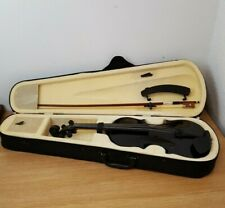 Black Full Size Violin 4/4 with case and accessories