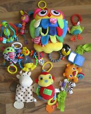 baby / toddler toy bundle, sensory toys, Lamaze, little tykes, buggy, chair toy