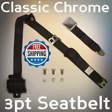 Mini - Truck Chrome Flip Buckle 3pt Seatbelt polished style for usa cert 3 point