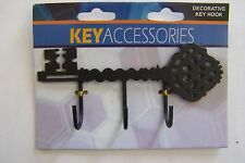 "Decorative Ornamental Key Hook Hanger Rack Holder Wall Decor 4-1/2""X3"""